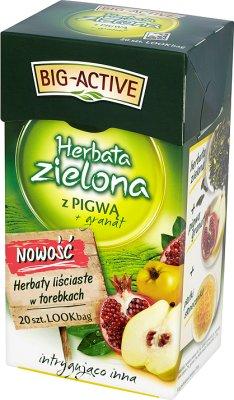 Big-Active herbata zielona ekspresowa z owocem pigwy w saszetkach + granat