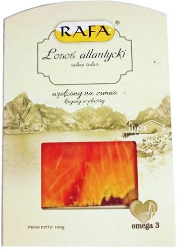 Geräucherte norwegische Lachsscheiben