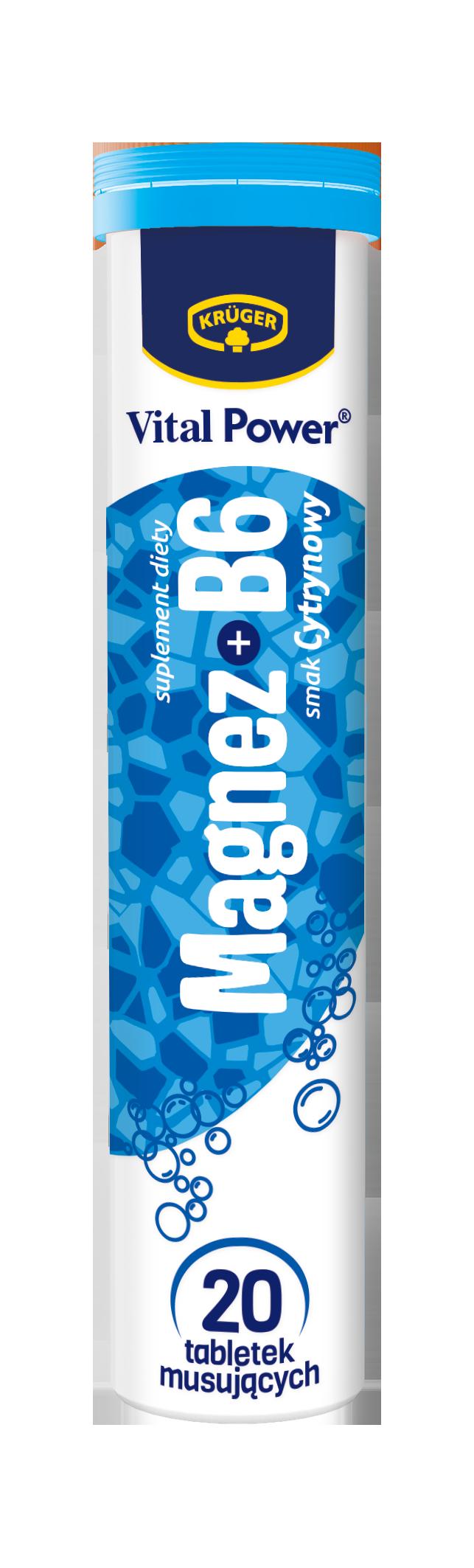 Brausetabletten mit dem Geschmack von Zitrone Magnesium