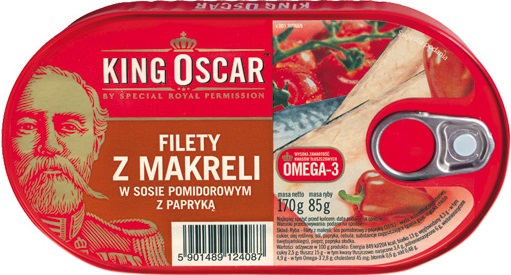 Filets von Makrelen in Tomatensauce mit Paprika