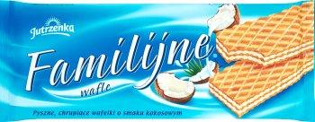 Jutrzenka Wafle Familijne o smaku kokosowym