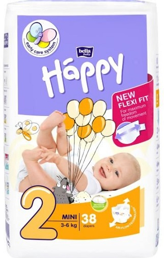Bella Baby Happy Pieluchy Mini 2 3-6kg