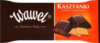 Wawel Kasztanki kakaowe z wafelkami, czekolada nadziewana