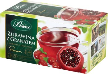 Bifix herbatka owocowa Premium w podwójnych saszetkach Żurawina z granatem