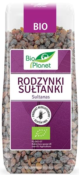 Bio Planet rodzynki sułtanki, produkt rolnictwa ekologicznego