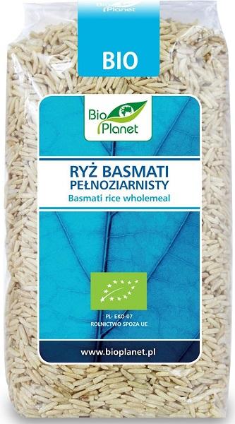 Bio Planet ryż basmati pełnoziarnisty, produkt rolnictwa ekologicznego