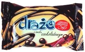 Skawa draże o smaku czekoladowym