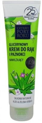 Cztery Pory Roku Krem do rąk glicerynowy nawilżająco łagodzący z aloesem zapach zielonej herbaty