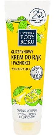 Cztery Pory Roku Krem do rąk glicerynowy nawilżająco-wybielający zapach cytryny
