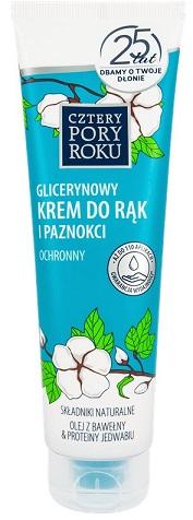 Cztery Pory Roku Krem do rąk glicerynowy odżywczo-ochronny z ekstraktem bawełny zapach konwalii