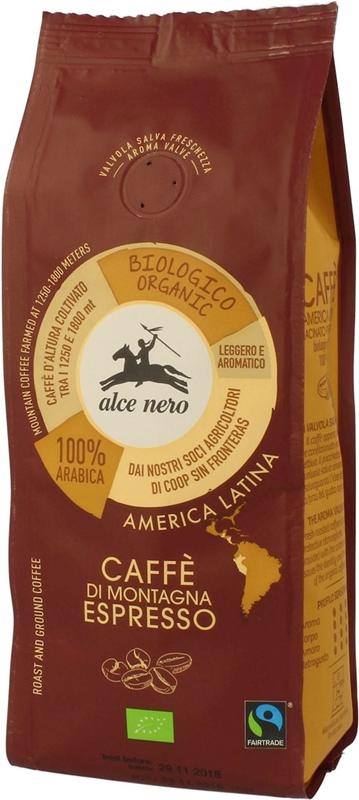 Alce Nero Espresso kawa mielona BIO 100% arabica
