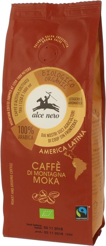 café moulu 100 % arabica moka commerce équitable