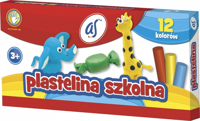 As Plastelina szkolna 12 kolorów