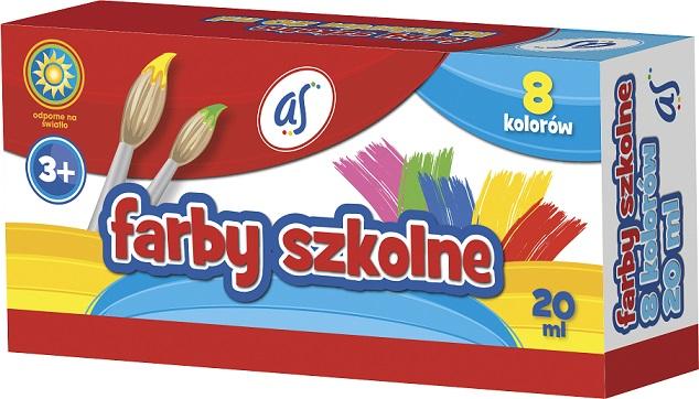As Farby szkolne 8 kolorów