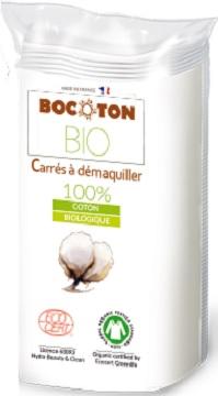 BOCOTON Ekologiczne płatki kosmetyczne - kwadratowe (75x75mm)