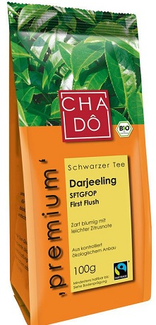 CHA-DO ekologiczna, liściasta herbata Darjeeling SFTGFOP BIO
