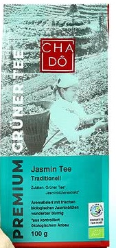 CHA-DO органические, лиственный зеленый чай - Жасмин BIO
