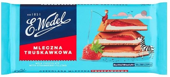 E. Wedel czekolada nadziewana mleczna truskawkowa