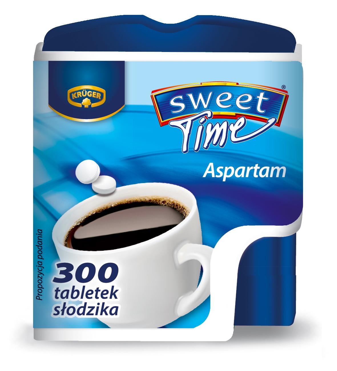 Krüger Słodzik Sweet Time 300 Słodzik stołowy w tabletkach na bazie aspartamu