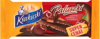Krakuski Paluszki z galaretką wiśniową w czekoladzie