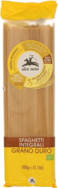 Alce Nero  Makaron razowy spaghetti semolina