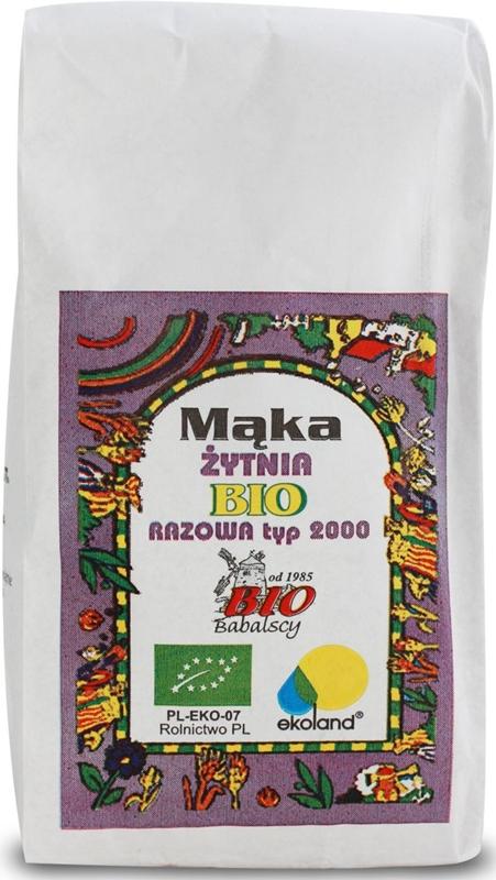 Babalscy Mąka żytnia BIO razowa typ 2000
