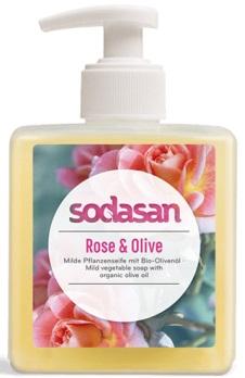 Sodasan ekologiczne mydło roslinne z oliwą z oliwek Różano - oliwkowe