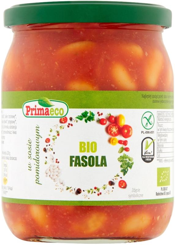 Primaeco Fasola w sosie pomidorowym BIO