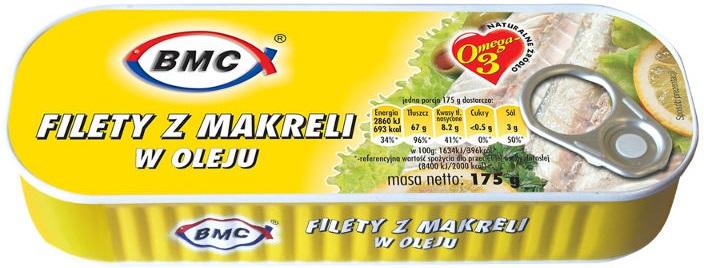 B.M.C filety z makreli w oleju
