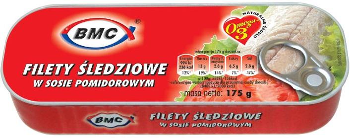B.M.C filety śledziowe w sosie pomidorowym