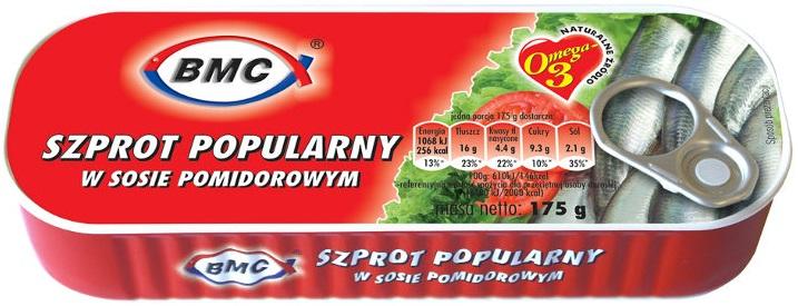 B.M.C szprot popularny w sosie pomidorowym