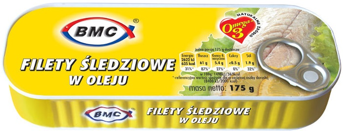 B.M.C filety śledziowe w oleju