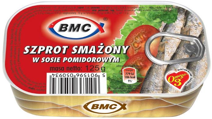 B.M.C szprot smażony w sosie pomidorowym