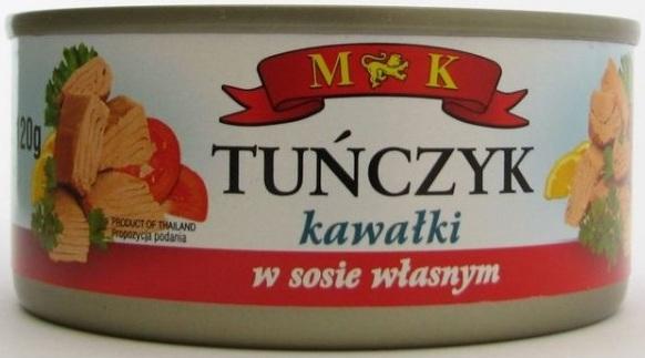 MK Tuńczyk kawałki w sosie własnym