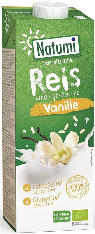 Natumi napój ryżowo- waniliowy Bio