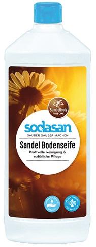 Sodasan ekologiczne mydło sandałowe BIO do mycia podłóg.