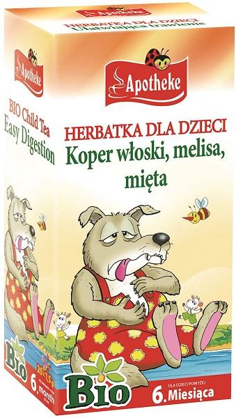 Thé bio pour les enfants de 20 sacs de 1,5 g pour une digestion facile