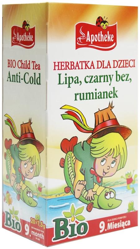 APOTHEKE BIO herbatka dla dzieci 20 torebek po 1,5g przy przeziębieniu