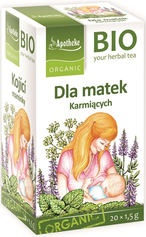Organic tea selection for nursing mothers 20 bags of 1,5 g