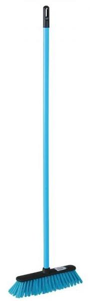 York Miotła CENTI + trzonek niebieska