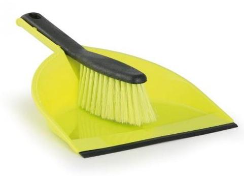 + Brosse pelle de caoutchouc clip vert
