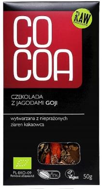 Cocoa czekolada surowa BIO z jagodami goji