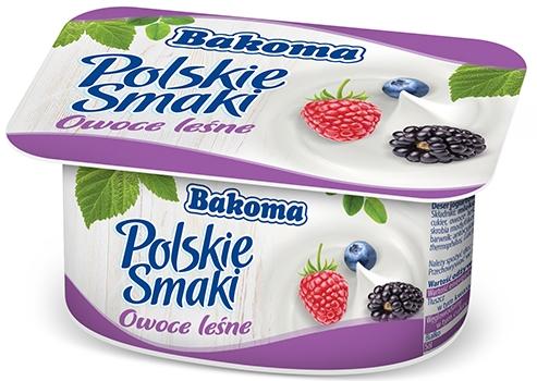 Bakoma Polskie Smaki jogurt  owoce leśne