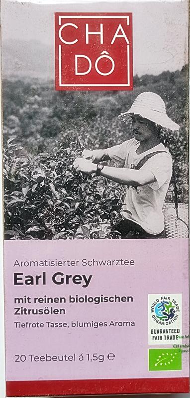 Cha Do Earl Grey Ekologiczna czarna herbata w torebkach BIO