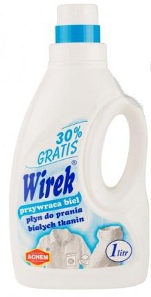 Wirek przywraca biel płyn do prania białych tkanin 30% gratis