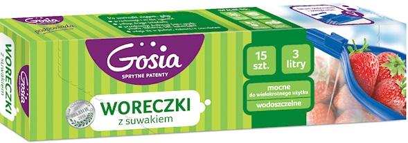 Gosia Fresh Zippery woreczki z suwakiem 3l