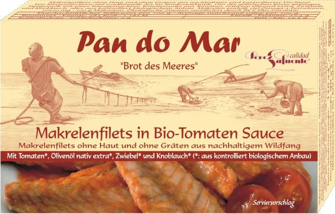 Pan do Mar filety z makreli w BIO sosie pomidorowym
