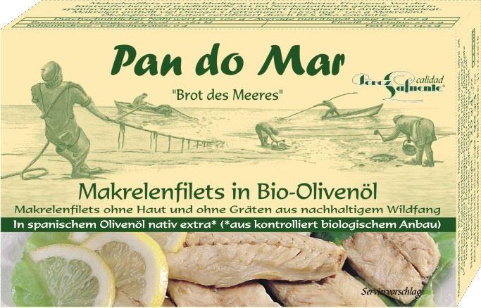 Filets de maquereaux à l'huile d'olive biologique