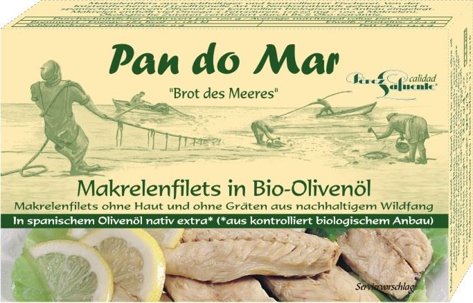 Pan do Mar filety z makreli w BIO oliwie