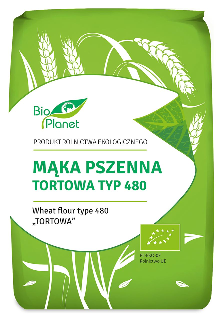 BIO Planet mąka pszenna tortowa typ 480 BIO